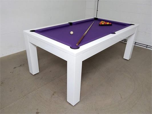 Billards Montfort Lewis High-Gloss White Luxury Pool Table: Warehouse Clearance