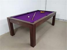 Signature Chester Walnut Purple Pool Dining Table - 7ft: Warehouse Clearance