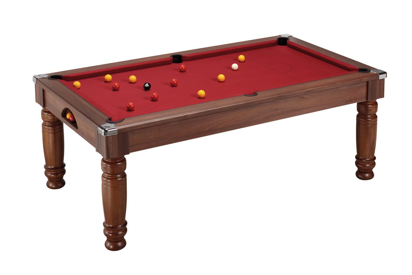 An image of Majestic Pool Dining Table: Dark Walnut - 6ft, 7ft