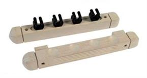 Buffalo 4 Cue Rack - White