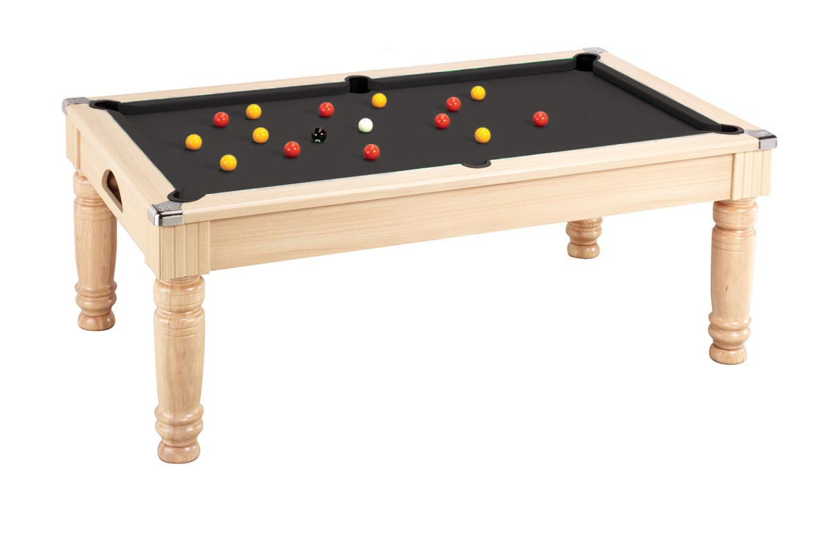 An image of Majestic Pool Dining Table: Oak - 6ft, 7ft