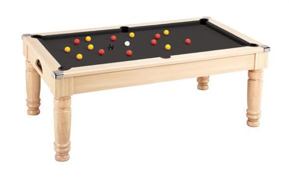 Majestic Pool Dining Table: Oak - 6ft, 7ft