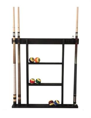 Buffalo Deluxe 6 Cue Wall Rack - Black