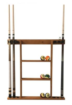 Buffalo Deluxe 6 Cue Wall Rack - Light Brown