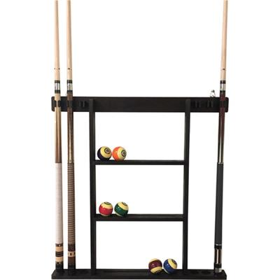 Buffalo Deluxe 6 Cue Wall Rack - Dark Brown