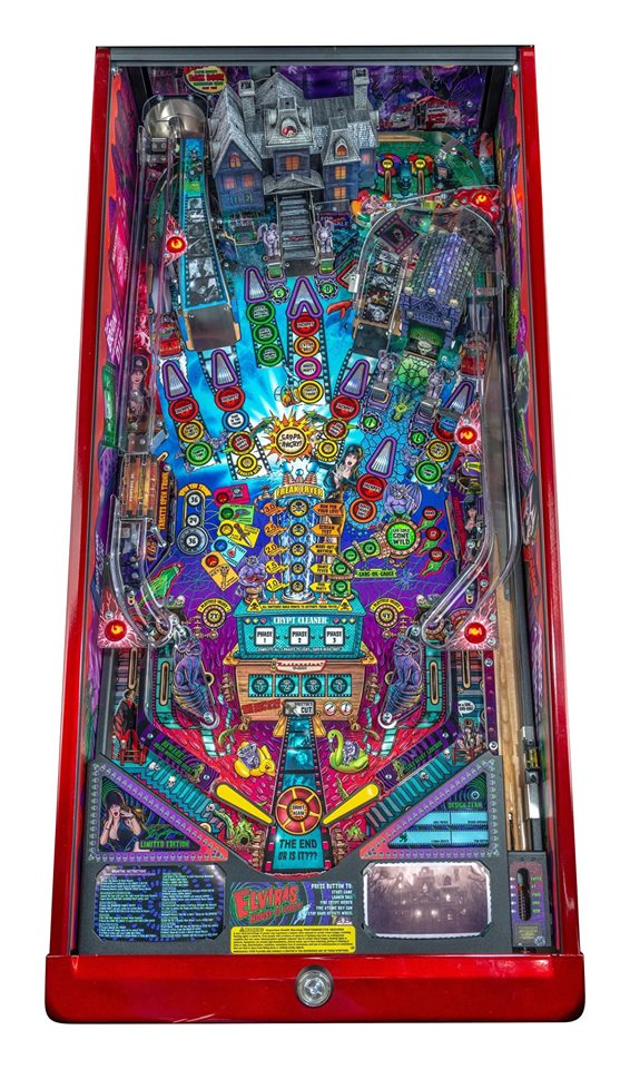 Elvira's House of Horrors Pinball Machine Limited Edition - Playfield Plan
