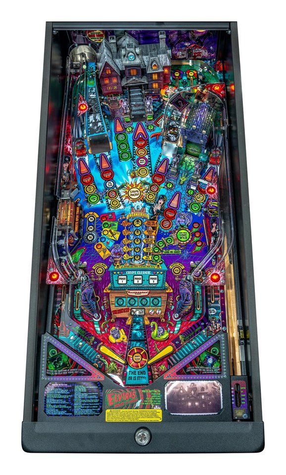 Elvira's House of Horrors Pinball Machine Premium Edition - Playfield Plan