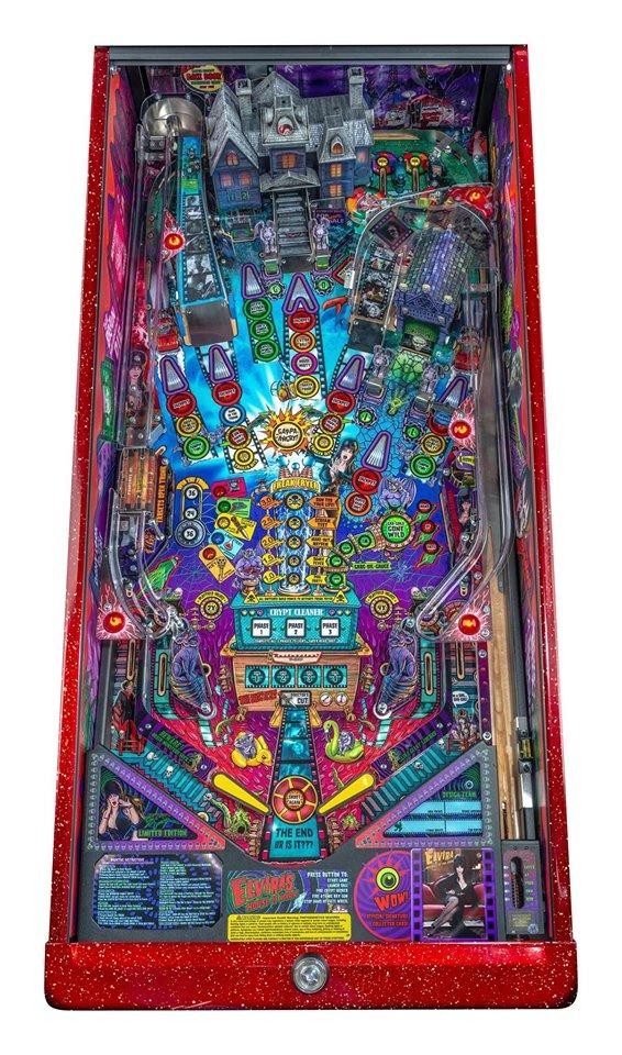 Elvira's House of Horrors Pinball Machine Signature Edition - Playfield Plan