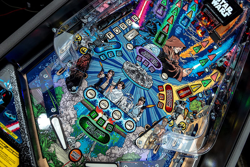 Star Wars Comic Edition Pro Pinball Machine - Playfield Angled View