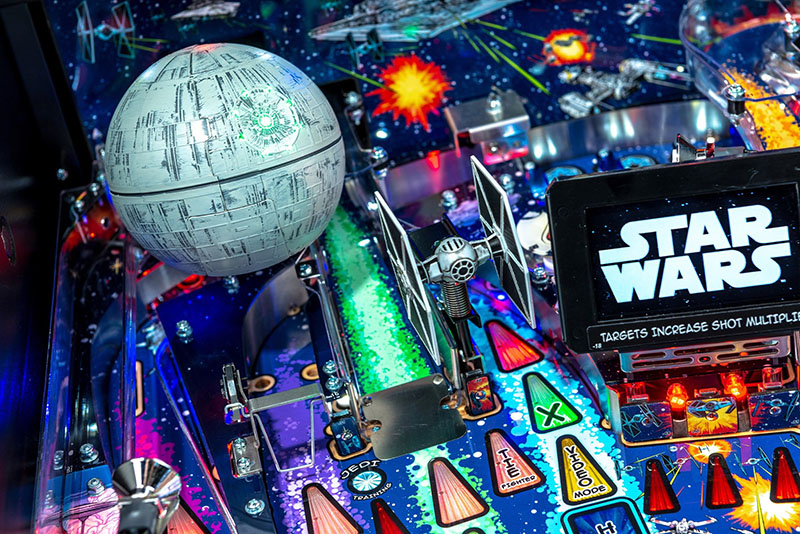 Star Wars Comic Edition Pro Pinball Machine - Death Star