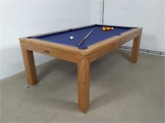 Signature Anderson Oak Navy Blue Pool Dining Table - 7ft: Warehouse Clearance