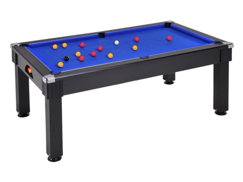 An image of Windsor Pool Dining Table: Black - 6ft, 7ft