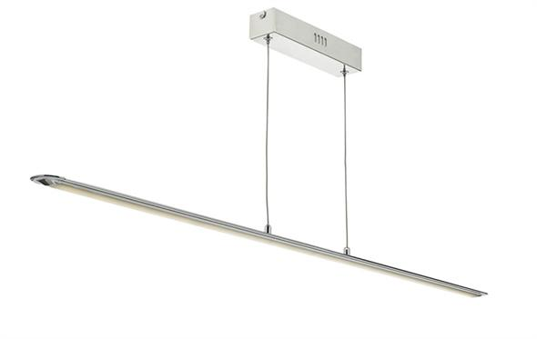Dar Lighting Zowie Bar Pendant Light in Polished Chrome