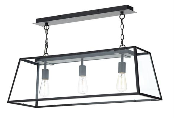 Dar Lighting Academy 3 Bar Light Bar Pendant