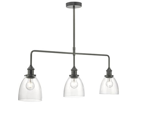 Dar Lighting Arvin 3 Light Bar Pendant Light in Antique Chrome