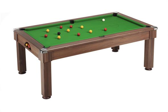 Windsor Pool Dining Table: Dark Walnut - 6ft, 7ft