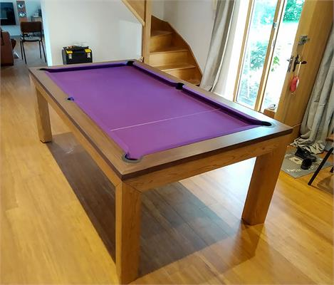 Signature Anderson Oak and Walnut Pool Dining Table: 7ft