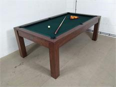 Signature Chester Walnut Ranger Green Pool Dining Table Warehouse Clearance