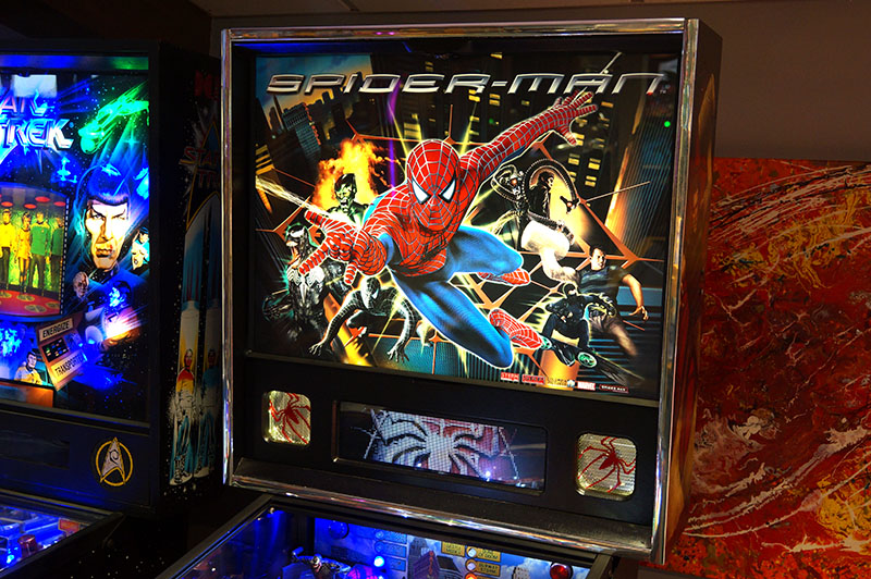 Spider-Man Pinball Machine - Backbox