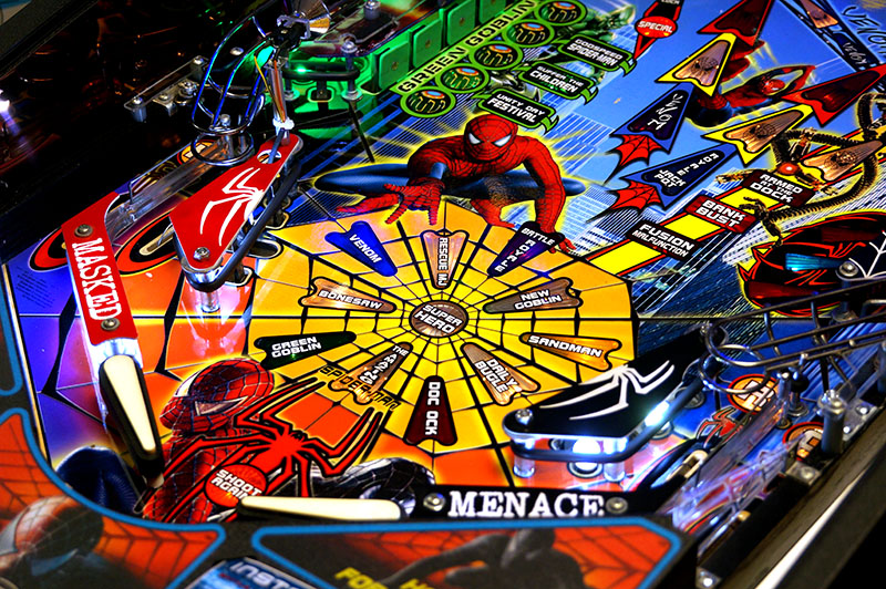 Spider-Man Pinball Machine - Flippers
