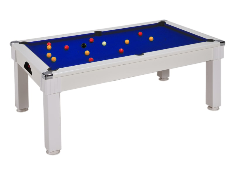 An image of Windsor Pool Dining Table: White - 6ft, 7ft