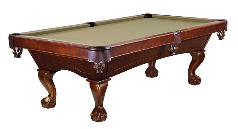 Brunswick Allenton American Pool Table with Ball and Claw Legs - Chestnut