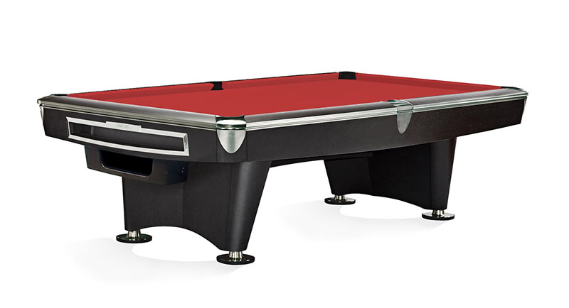 Brunswick Gold Crown VI American Pool Table - Black with Gully Ball Return
