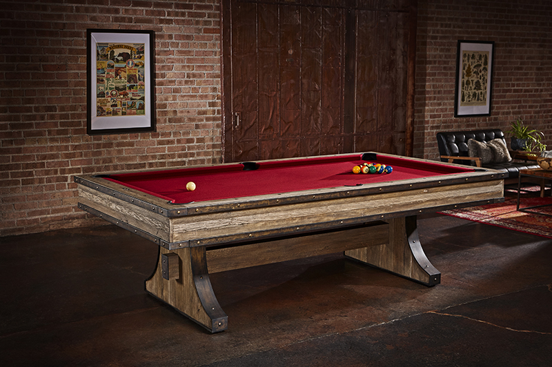 Brunswick Edinburgh American Pool Table - Pedestal Legs