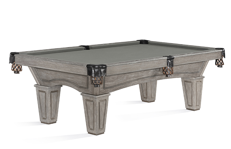 Brunswick Allenton American Pool Table with Tapered Legs - Driftwood