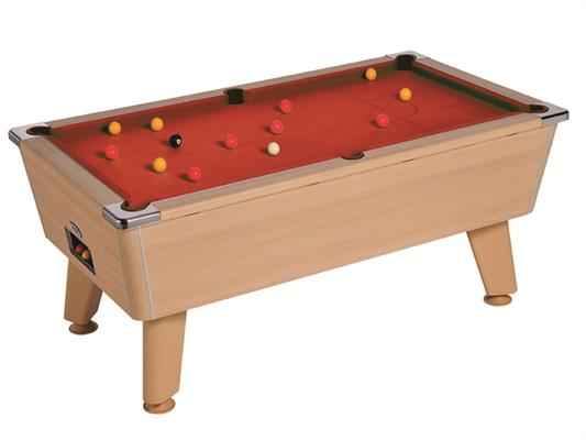Omega Pool Table: Oak - 6ft, 7ft