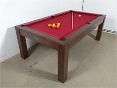 Signature Chester Solid Walnut Cherry Red Pool Dining Table