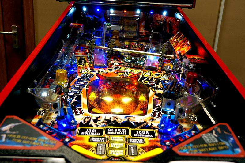 AC/DC Premium Pinball Machine - Playfield View