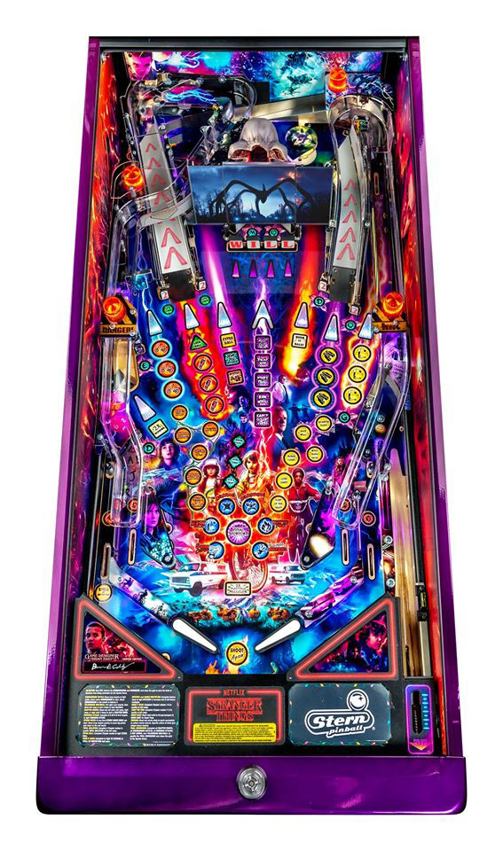 Stranger Things LE Pinball Machine - Playfield Plan