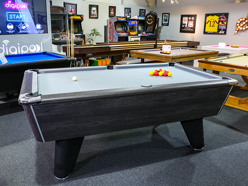 Supreme Winner Pool Table in Rustic Black