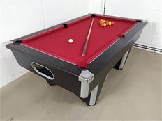 Signature Champion Pool Table: Black - 6ft with Cherry Red Cloth
