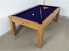Signature Chester Oak Red Pool Dining Table - 7ft: Warehouse Clearance