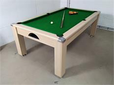Signature Warwick Pool Dining Table: Light Oak - 7ft