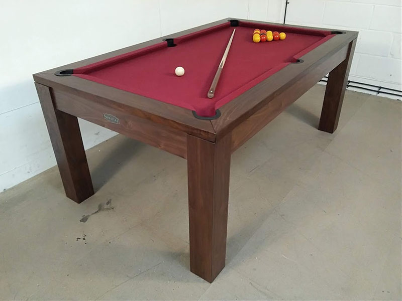 signature chester solid walnut pool dining table  6ft