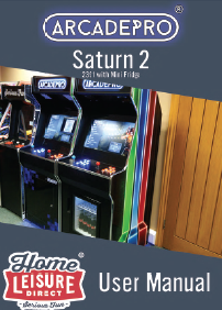 ArcadePro Saturn 2 2391 Upright Arcade Machine with Mini Fridge - Manual Thumbnail