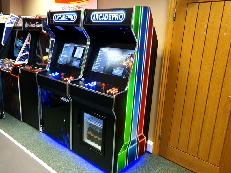 ArcadePro Saturn 2 2391 Upright Arcade Machine with Mini Fridge - In Showroom