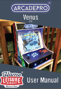 ArcadePro Venus 2391 Bartop Arcade Machine - Manual Thumbnail
