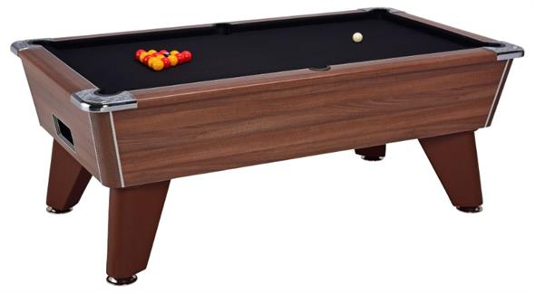 Signature Tournament Pro Edition Pool Table: Dark Walnut - 6ft, 7ft