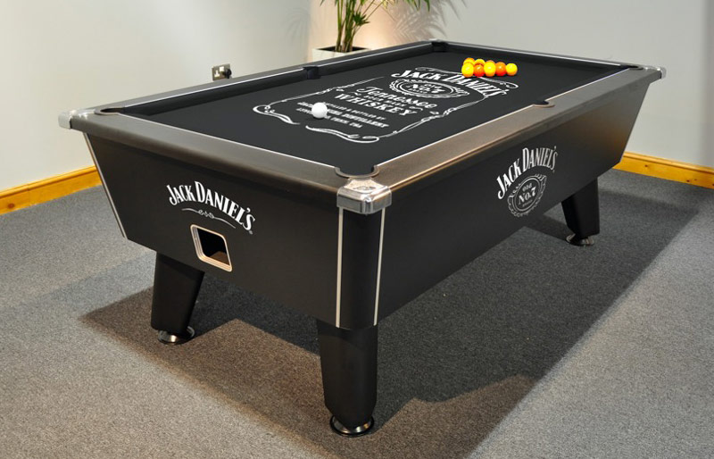 Jack Daniel's Wrapped Tournament Pool Table