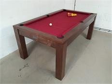 Signature Chester Solid Walnut 6ft Pool Dining Table: Warehouse Clearance