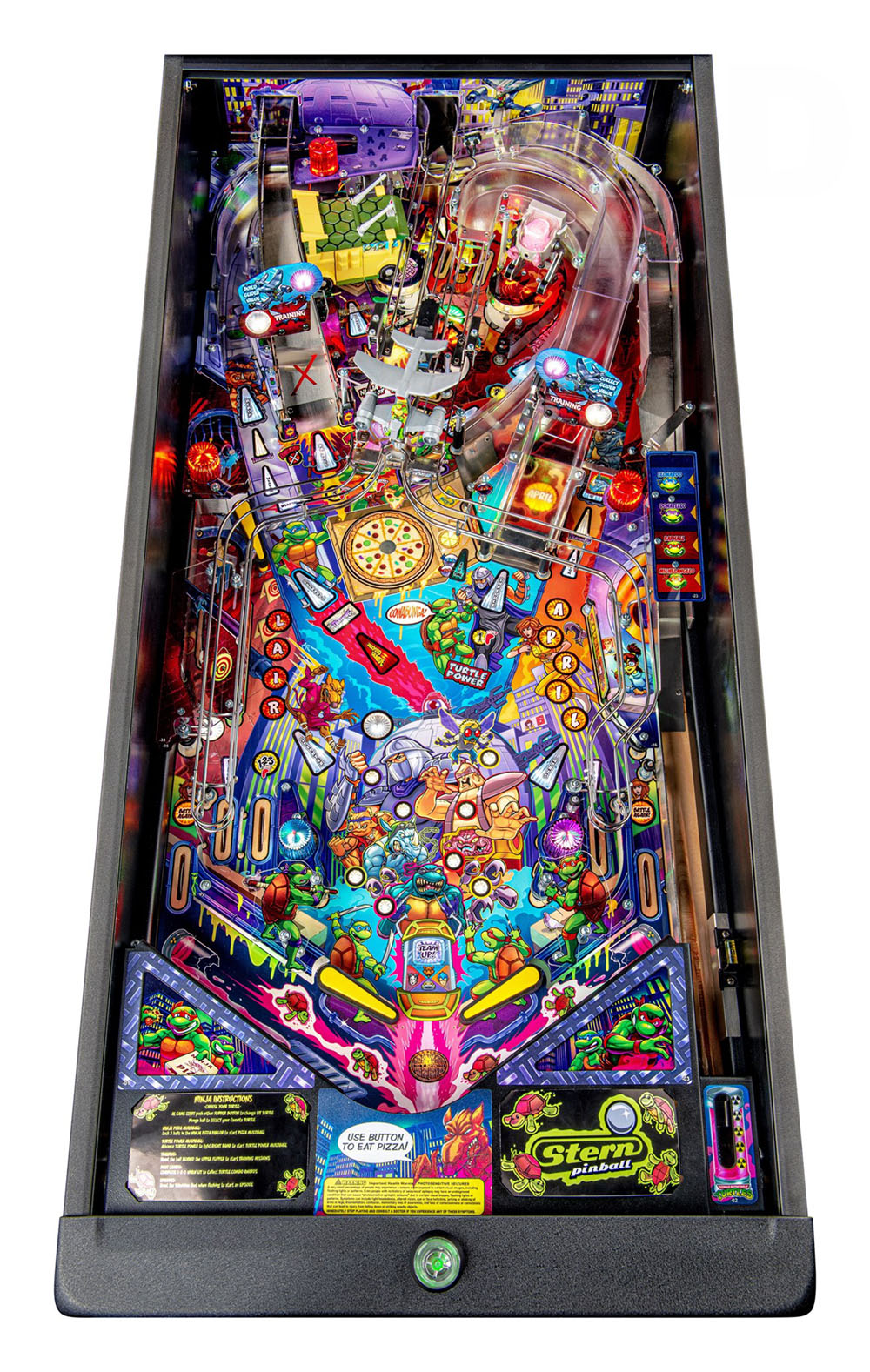Teenage Mutant Ninja Turtles Premium Pinball Machine - Playfield Plan