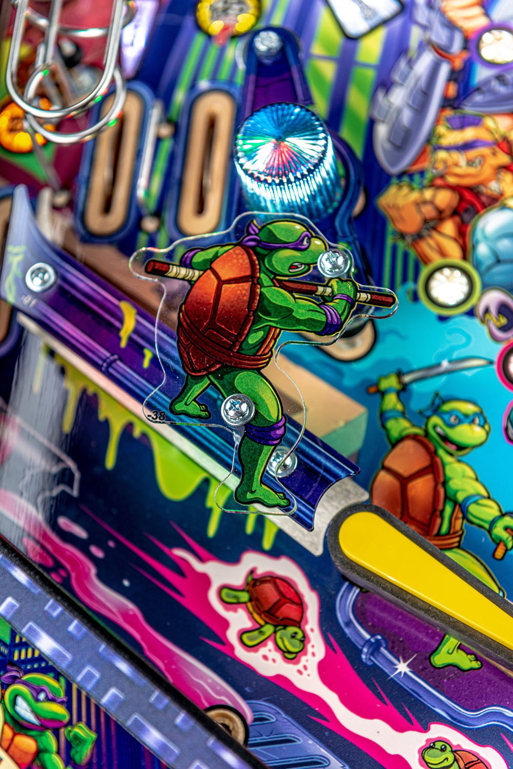 Teenage Mutant Ninja Turtles Premium Pinball Machine - Flipper Decoration