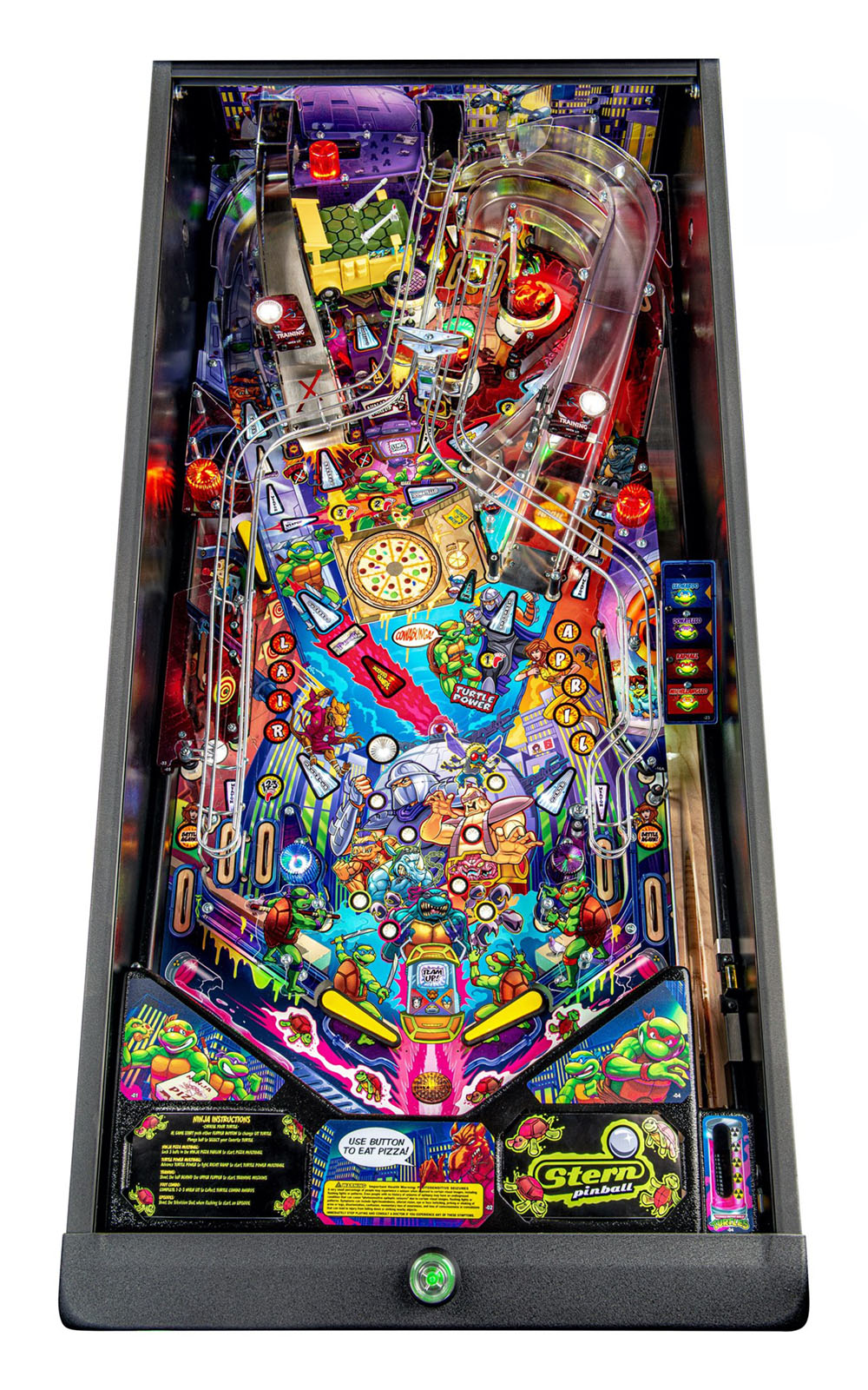 Teenage Mutant Ninja Turtles Pro Pinball Machine - Playfield Plan
