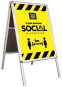HygienePro Social Distancing Portable A-Frame Sign