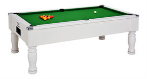 Monarch Pool Table: White - 6ft, 7ft
