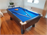Supreme Winner Pool Table with Black Finish and Blue Cloth